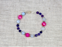Браслет из фиолетового агата от Nur