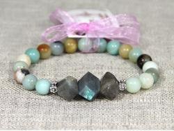 Браслет из разноцветных натуральных камней от Victory Bijoux