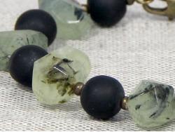 Браслет из шунгита и зеленого пренита от Nur