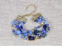 Браслет из четырех нитей богемского стекла от Натали Беллини