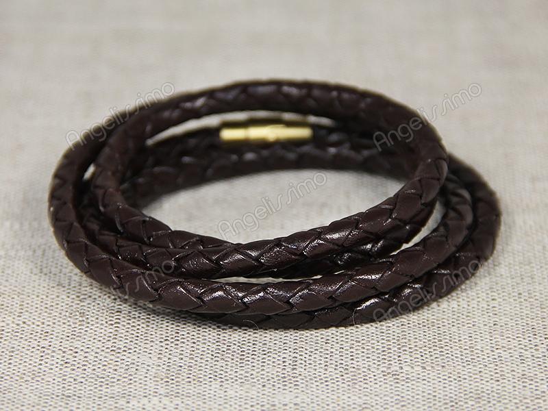 Браслет мужской/женский плетеный коричневый в несколько оборотов от Marina Lurye