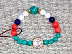 Браслет из бирюзы, коралла и других натуральных камней от BRimar