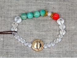 Браслет из амазонита и других натуральных камней от BRimar