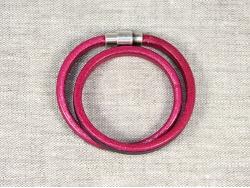 Браслет Regaliz mini в два оборота черно-малиновый от Marina Lurye