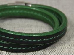 Браслет Regaliz mini в два оборота черно-зеленый от Marina Lurye