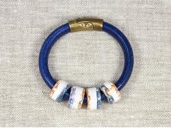 Браслет Regaliz синий с бусинами от Marina Lurye