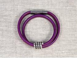 Браслет-трансформер Regaliz в два оборота фиолетовый от Marina Lurye