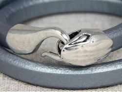 Браслет-трансформер Regaliz в два оборота серебристый от Marina Lurye