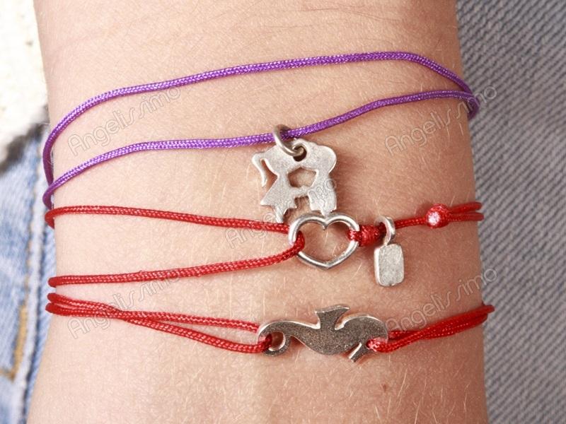 Веревочный браслет с подвеской своими руками