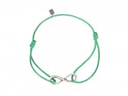 """Веревочный браслет """"Бесконечность"""" на зеленой нити от Amorem"""
